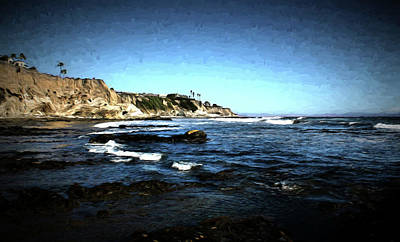 Photograph - The Cliffs Of Pismo Beach Painting by Judy Vincent