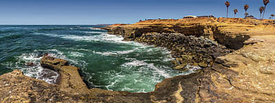 Photograph - The Cliffs - Point Loma by Peter Tellone