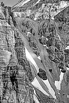 Snow Photograph - The Climb To Abbot's Hut Bw by Steve Harrington