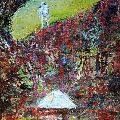 Climber Painting - The Climber by Fabrizio Cassetta