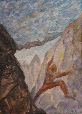 The Climber Art Print by Michael Kopf