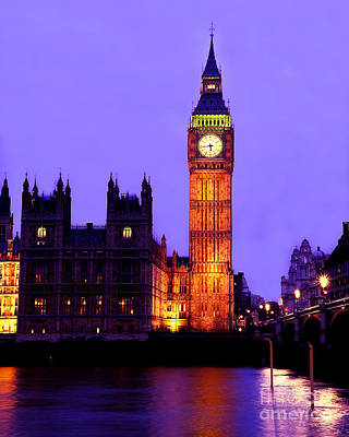 Palace Bridge Photograph - The Clock Tower Aka Big Ben Parliament London by Chris Smith