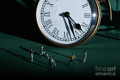 Photograph - The Clock Watchers by Steve Purnell