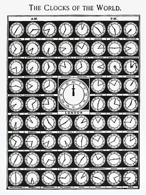 Drawing - The Clocks Of The World by Unknown