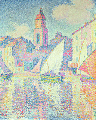 St.tropez Painting - The Clocktower At St Tropez, 1896  by Paul Signac