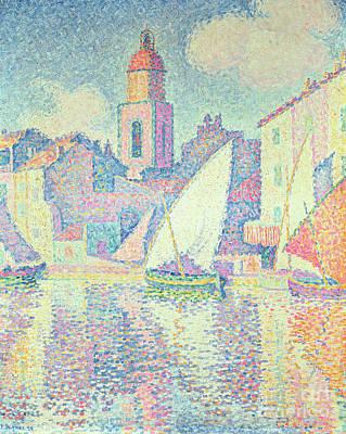 The Clocktower At St Tropez, 1896  Art Print