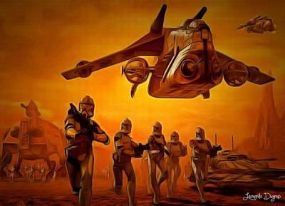 Galactic Painting - The Clone Wars by Leonardo Digenio