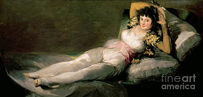 Clothed Painting - The Clothed Maja by Goya