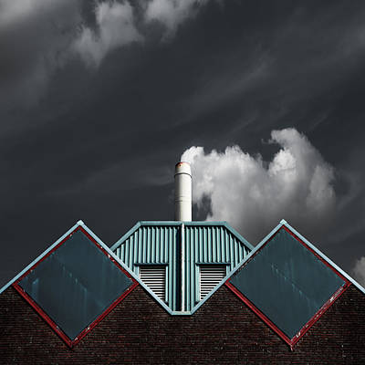 Symmetry Photograph - The Cloud Factory by Gilbert Claes