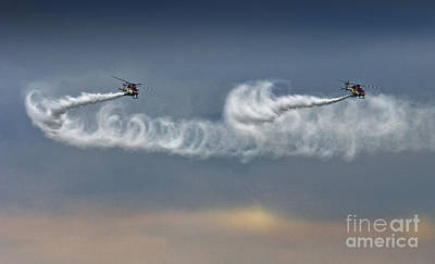 Airshow Photograph - The Cloudmakers by Angel  Tarantella
