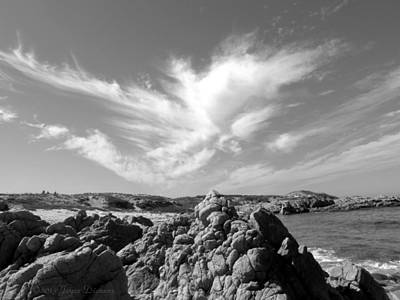 Photograph - The Clouds Caressing Monterey Bay by Joyce Dickens