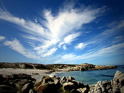 Photograph - The Clouds Caressing Monterey Bay Two by Joyce Dickens