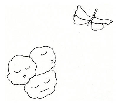 Drawing - The Clouds Looked Down Their Noses by Sophia Landau