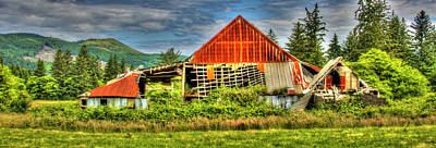 Photograph - The Cloverdale Barn 3 by Richard J Cassato
