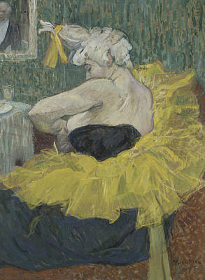 Painting - The Clown Cha-u-kao by Henri de Toulouse-Lautrec