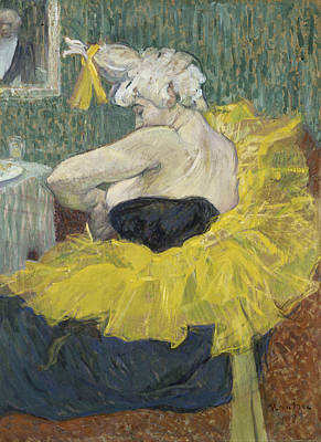 Circus Painting - The Clown Cha-u-kao by Henri de Toulouse-Lautrec