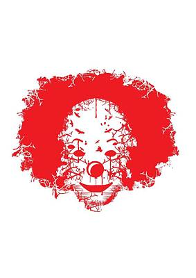 Digital Art - The Clown by Christopher Meade