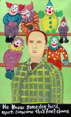 Painting - The Clown Collector Is Single by JoLynn Potocki