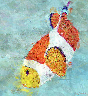Purple Grapes Mixed Media - The Clown Fish by Ken Figurski