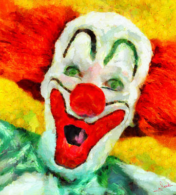 Animation Painting - The Clown by George Rossidis