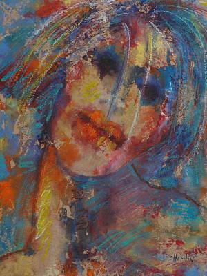 Marcelle Hamelin Mixed Media - The Clown by Marcelle Hamelin
