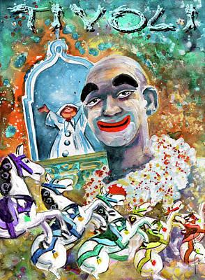 Painting - The Clown Of Tivoli Gardens by Miki De Goodaboom