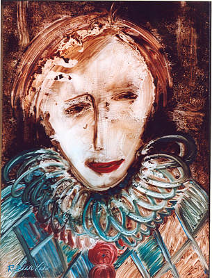 Painting - The Clown by Rezvan Kani