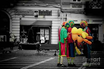 The Clown's Conspiracy Art Print by Gabriela Insuratelu