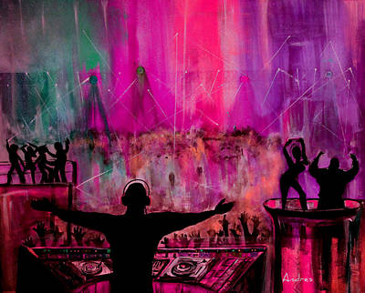 The Club Art Print by Andres Gonzalez