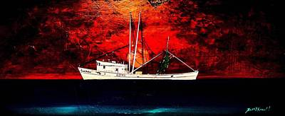 The Clyde Phillips At Sea Art Print by Barry Knauff