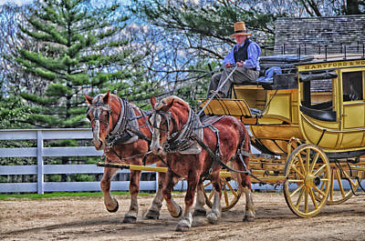 Photograph - The Coach Arrives by Mike Martin