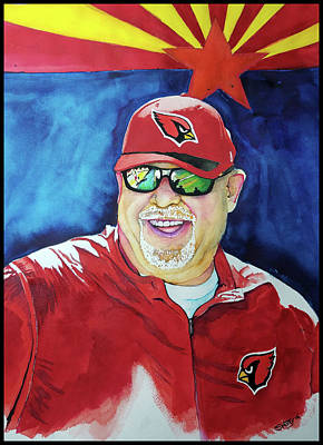 Az Cardinals Painting -  The Coach by Fred Smith