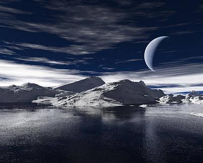 Horizon Digital Art - The Coast by Alexandra Kleist