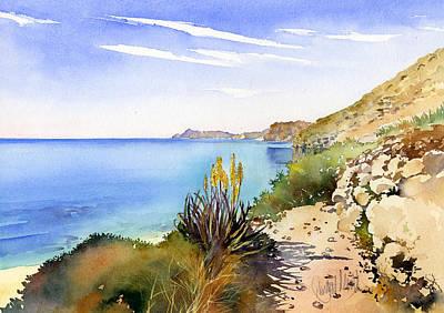 The Coast From San Pedro Art Print