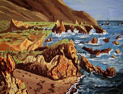 Art Print featuring the painting The Coast by Judy Via-Wolff