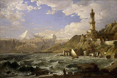 The Coast Of Genoa Art Print by Jasper Francis