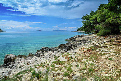 Photograph - The Coastline Of Rab, Croatia by Global Light Photography - Nicole Leffer