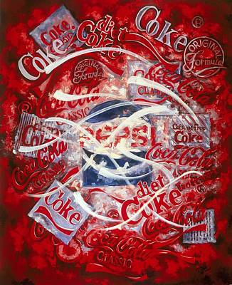 Painting - The Coca Cola Affair by Charles Simms