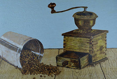 Painting - The Coffee Grinder by Zilpa Van der Gragt