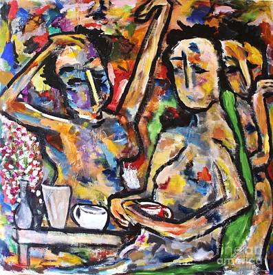 Painting - The Coffee Shop by Chaline Ouellet