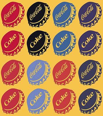 Vintage Photograph - The Coke Caps by Donald Stevenson