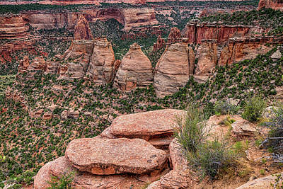 Photograph - The Coke Ovens Rock Formation Western Landscape by James BO Insogna