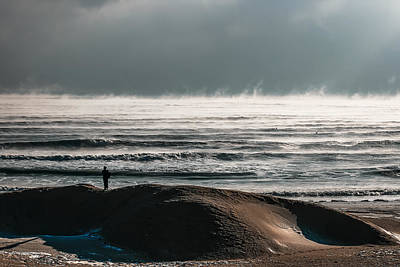 Observer Photograph - The Cold And Steaming Black Sea by Dan Cristian Mihailescu