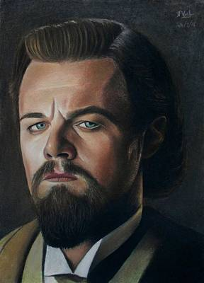Drawing - The Cold Expression - Leonardo Dicaprio by Vishvesh Tadsare