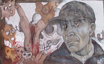 The Cold World Of Ed Gein Art Print by Sam Hane