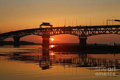 Photograph - The Coleman Bridge At Sunrise by Lara Morrison