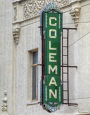 The Coleman Theater Art Print by JC Findley