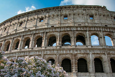 Photograph - The Coliseum In Rome by Kathleen Scanlan