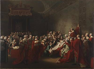 Chatham Painting - The Collapse Of The Earl Of Chatham In The House by John Singleton