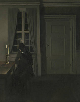 Painting - The Collector Of Coins by Vilhelm Hammershoi